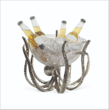 OCTUPUS STAND AND GLASS BOWL